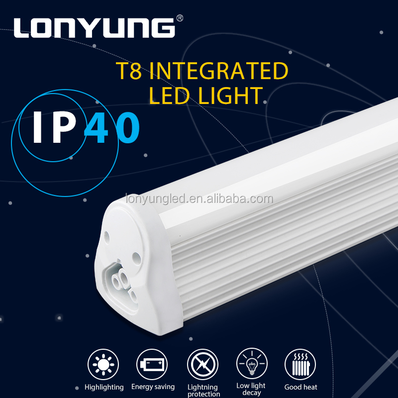 LED lighting manufacturers houses 50000hours IP40 waterproof led fluorescent