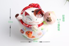 Hand Painted Ceramic Maneki Neko Money Lucky Cat