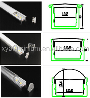 wall mounted aluminum profile for led strip decoration