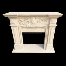 Marble hand carving table top fireplace ethanol