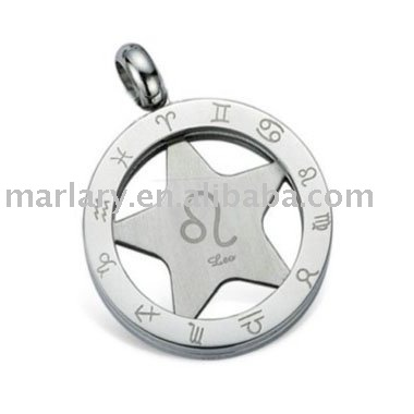 316L Stainless Steel Memorial Perfume Five-pointed Star Pendant Cremation Keepsake Pendant