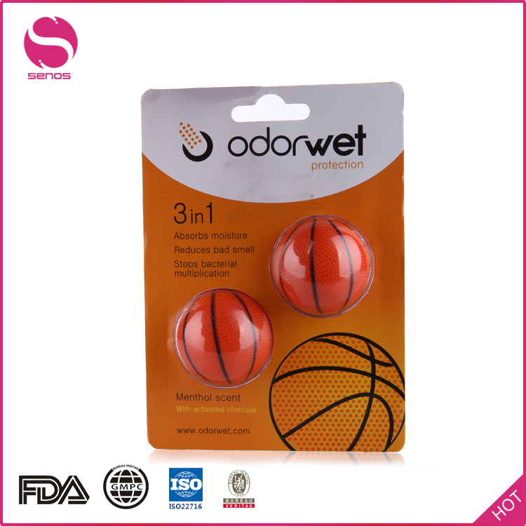 Senos Manufacturer Mini Basket Ball Shaped Shoes Anti-bacterial Deodorizer Air Fresheners