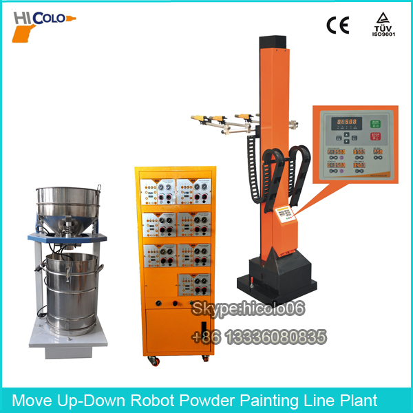 Move Up-Down Vertical Robot Reciprocators Electrostatic Powder Painting Line Plant