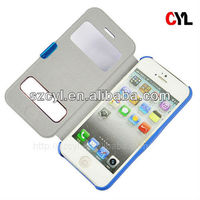 Window case for iphone5/ Leather case for iphone 5S/ Leather case for iphone 5