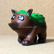 Custom made bulk plastic cute animal shape vinyl toy in factory price
