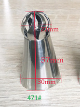 New style high quality russian ball torch nozzle piping tube for cake/cupcake/dessert decorating