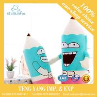 Hot Sale cheap Soft lovely toy silicon dolls custom plush toy Pencil toys