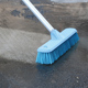 OEM Good Quality plastic 30cm hard blue household cleaning toilet scrubbing brush with handle