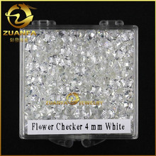 Excellent flower checker cut 4*4mm loose zirconia gems for 925 sterling silver jewelry making