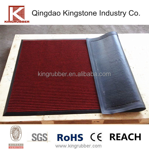 Bevelled edge fine ribbed door mat