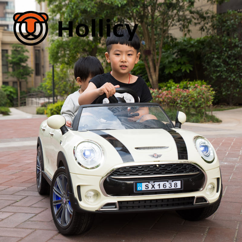 new model electric car good quality baby car twins car ride on car with remote hollicy sx1638