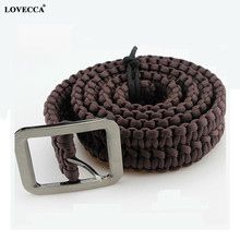 wholesale paracord bracelet Red wine belt with steel buckle
