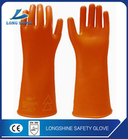 high quality electrical rubber hand gloves/electrical insulation gloves/safety testing rubber gloves
