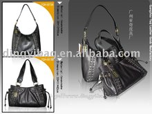 Lady two shape of genuine leather Hand Bag China Supplier For Fashion Dress