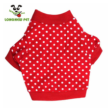 Fashion Cheap Puppy Clothes Dog Christmas Tee Shirts With White spots