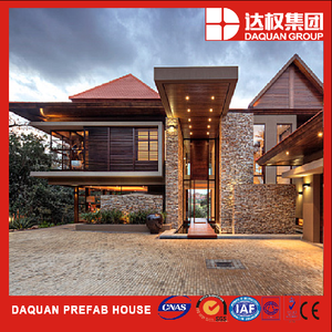high quality Environment friendly fireproof precast concrete steel kit prefab house