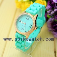 Fashion mint green geneva watch, watch bracelet 24mm
