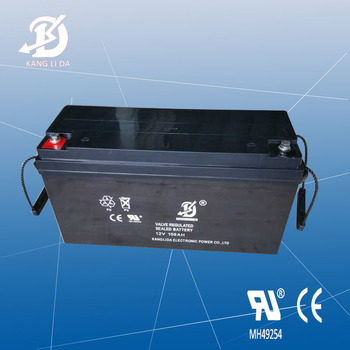 Kanglida 12V 150Ah maintenance free lead acid solar storage battery