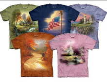 new 3D landscape printed round neck tee shirt
