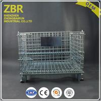Customized metal wire mesh logistics stack steel chrome plating storage cages container