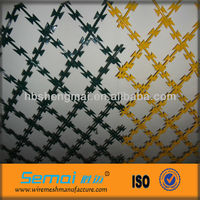 Razor Wire Flat Wrap/Galvanized Razor Barbed Wire Mesh Fence(ISO9001;AMNUFACTURER)