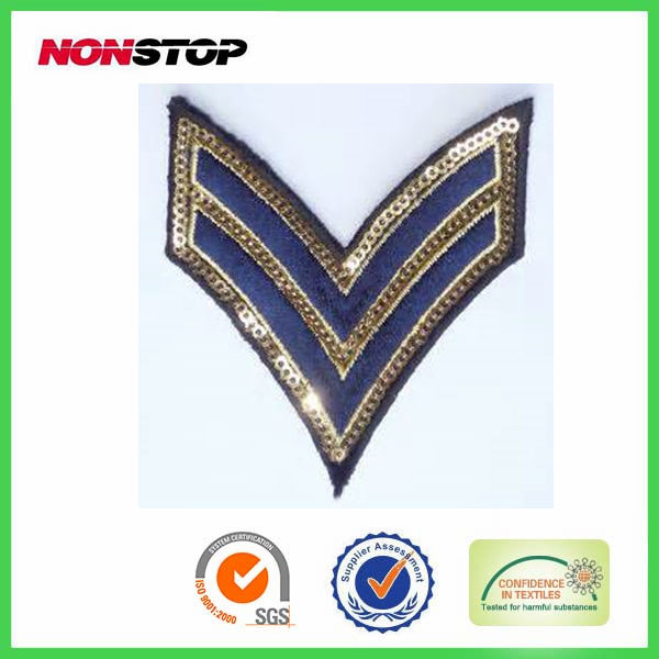 Iron-On uniform embroidery emblem