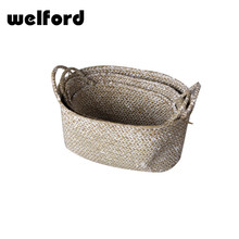Storage basket type large round wicker baskets for planting with plastic liner