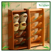 2015 new design Bamboo Shoe Rack in living room shoe