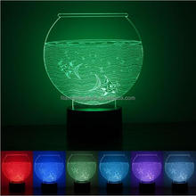 FS-3345 led color changing plug in night light 3d acrylic led night lights