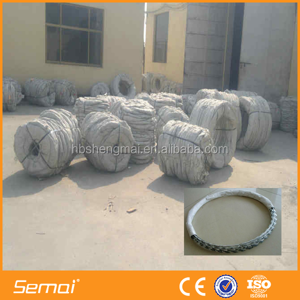 China Factory Price Razor Barbed Wire / Concertina Razor Wire Barbed Tape