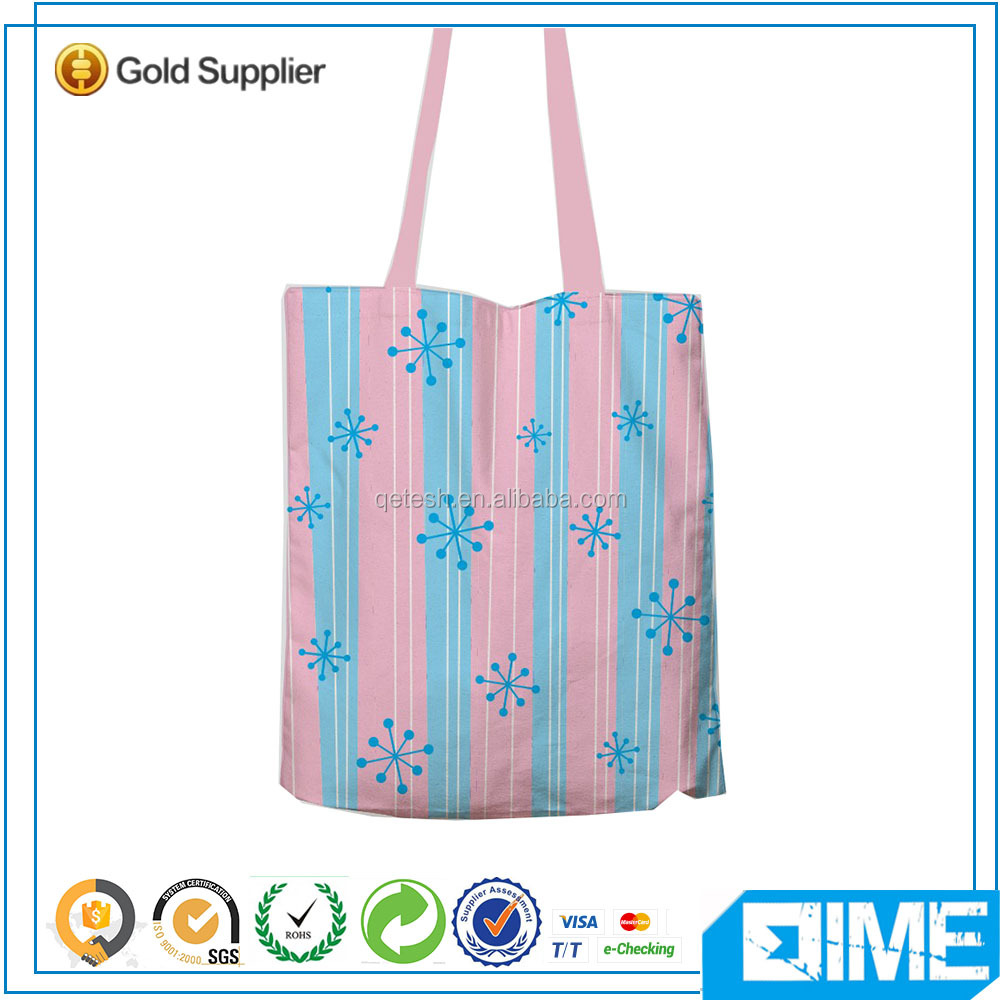Hot selling Europe popular printed weekend shopping bag