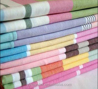 100 cotton yarn dyed handmade woven bedding fabric