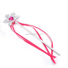 Cheap plastic snowflake shape princess wand for girls