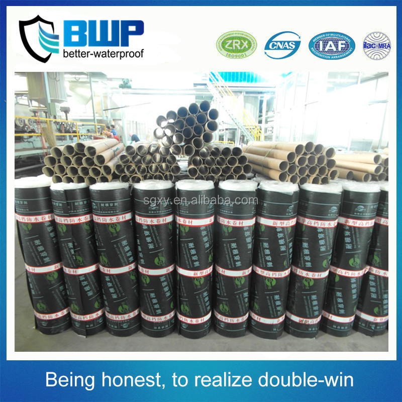 New types construction materials 2mm asphalt Glass tire SBS/APP waterproof membrane