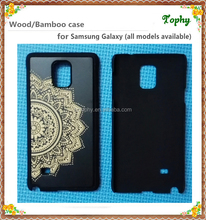 Mobile accessories laser engraving custom design Plastic wooden cell phone case for iphone samsung s5 s6 s7 note 4 5 case wood