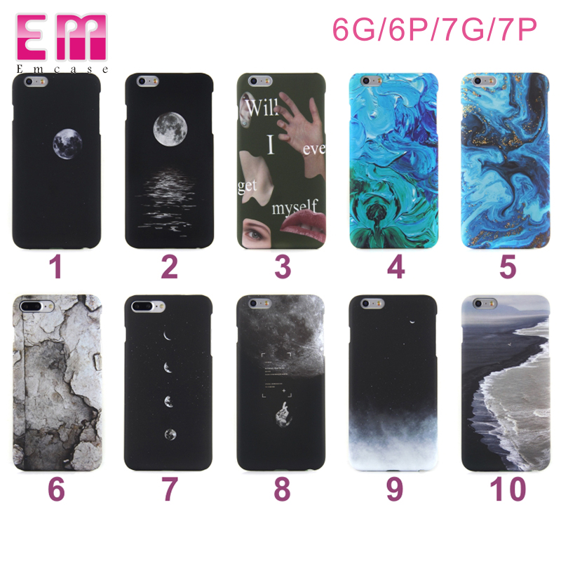 3D colorful water transfer printing sublimation mobile phone case for iphone 7 7plus