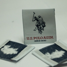 100% polyester blank custom woven fabric labels for clothing