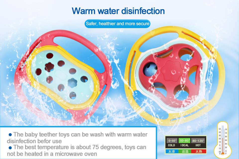 High Sale Cute Design Baby Teether Rattle Chewable Toys Silicone Teether With Safe Material
