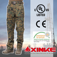 cvc/cotton fireproof army camo men military style cargo trousers pants