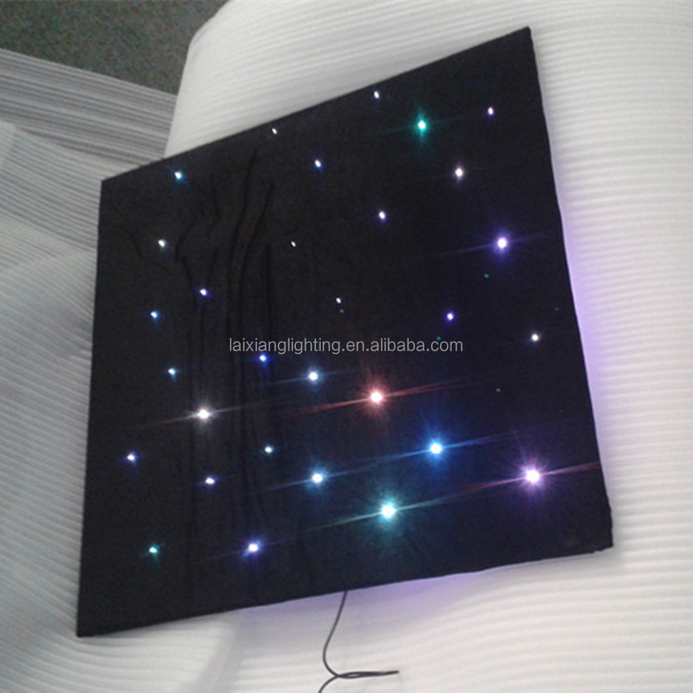 Ceiling lighting decoration sky star starry pvc ceiling panel with shooting star effect