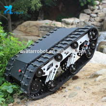 Multifunctional robot rubber tracks kit track undercarriage chassis tracked for
