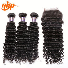 brazilian virgin jerry curl weave long deep wave weave human hair
