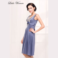 Stylish blue color womens home pajama latest nighty designs