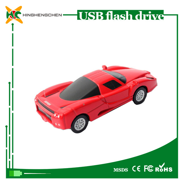 Wholesale Creative Ferrari USB Flash Drive 8GB 16GB 32GB Car Shape Pen Drive Card Cartoon USB Memory Stick