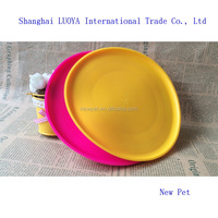 China goods promotional collapsible silicone pet frisbee tray european dog toy