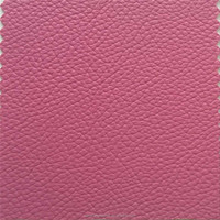 Pink lichi grain sofa leather material wholesales sold well in India