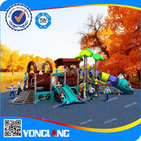 Double tube slides match transparent tubes Commerical of Kids plastic toys playground for sale