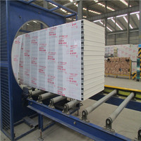 Chinese prefab house external wall panel,wall panel,eps and rock wool sandwich wall panel production line