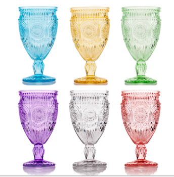High quality diamond crystal red wine glass goblet for sale in china