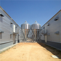 prefabricated and customized economic automatic galvanized steel frame poultry shed